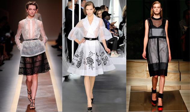 модный тренд : прозрачная одежда