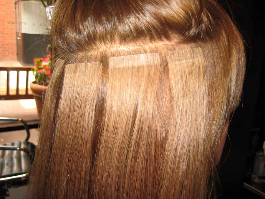 Ленточное наращивания волос в домашних условиях 253
